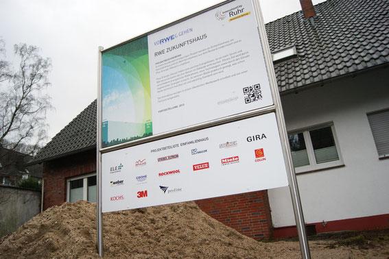Der Bau des RWE Zukunftshauses wird von zahlreichen namhaften Partnern aus der Wirtschaft unterstützt.