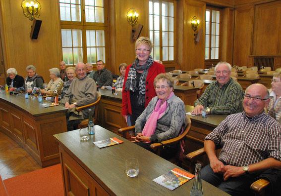 Bürgermeisterin Monika Budke empfing Mitglieder der Kolpingfamilie im Rathaus. Foto: Stadt Bottrop