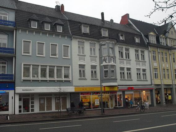 Häuser Osterfelder Straße 1-3 nach der Renovierung.
