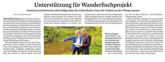 Quelle: Wümme-Zeitung vom 10.07.2019