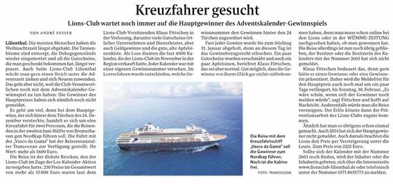 Quelle: Wümme-Zeitung vom 06.02.2019
