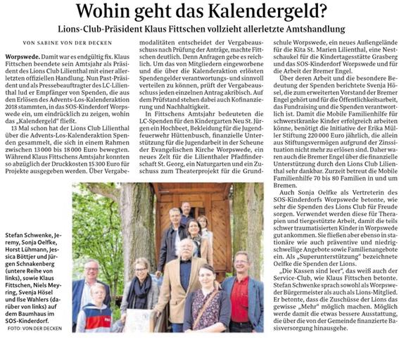 Quelle: Wümme-Zeitung vom 17.07.2019