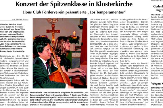 Quelle: Osterholzer Anzeiger vom 5.11.2014