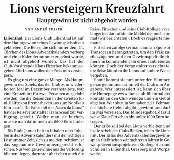 Quelle: Wümme-Zeitung vom 19.02.2019