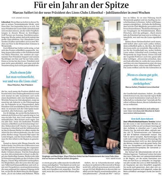 Quelle: Wümme-Zeitung vom 05.09.2019