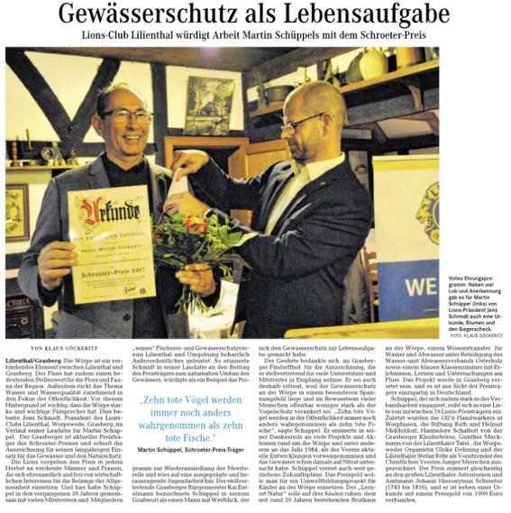 Quelle: Wümme-Zeitung vom 11.11.2017