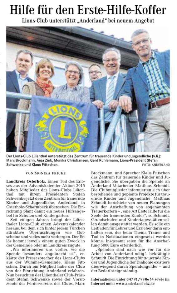 Quelle: Wümme-Zeitung vom 27.4.2016