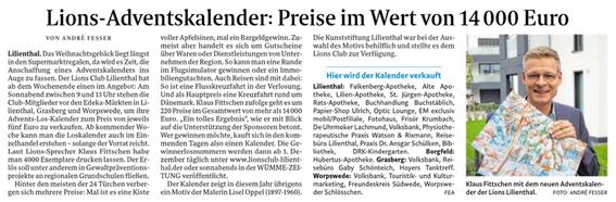 Quelle: Wümme-Zeitung vom 25.10.2019