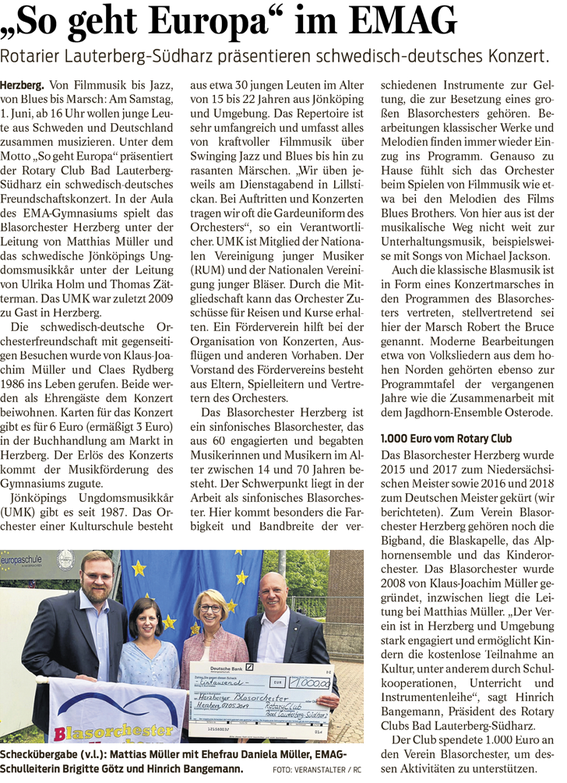 Harzkurier, 15.5.2019