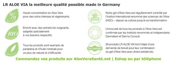LR ALOE VIA est synonyme de produit haut‑de-gamme à base de gel d'aloe véra et d'extraits biologiques très performants