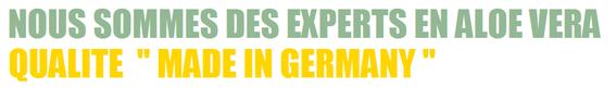 LR EST EXPERTS EN ALOE VERA MADE IN GERMANY Par jour, 20 000 litres de gel à boire d'Aloe Vera peuvent être produits, la société est un des plus grands fabricants de produits à base d'Aloe vera au monde.