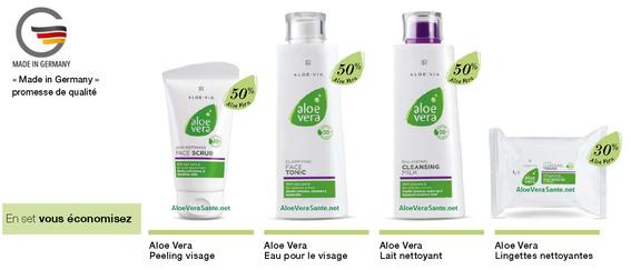 LR Health beauty « Made in Germany » Le composant principal de notre gamme de soins – le gel pur d'Aloe Vera – possède en plus de ses propriétés régénérantes et soignantes, des vertus hydratantes. Pour obtenir un apport supplémentaire d'hydratation
