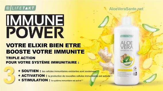 Catalogue de promotions Octobre 2019 NOUVEAU Gel à boire Aloe Vera Immune Plus avec LR Health & Beauty  AloeVeraSante.net
