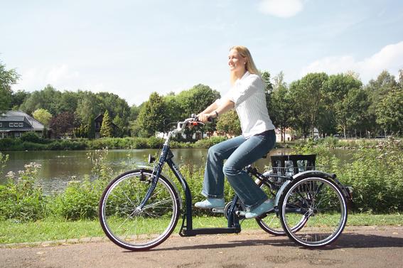 Ein Dreirad erleichtert den Alltag