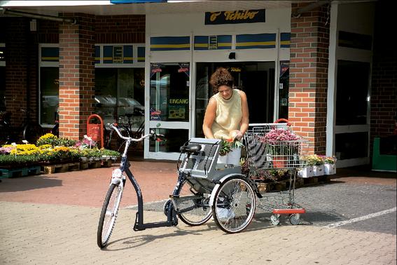 Dreirad statt Auto: Umweltbewusst Einkäufe erledigen