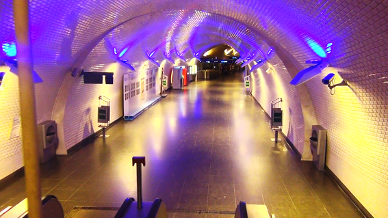 Plutôt sympa  les bouches de métro de Lisbonne...
