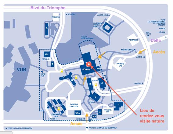 Plan d'accès de la Plaine ULB