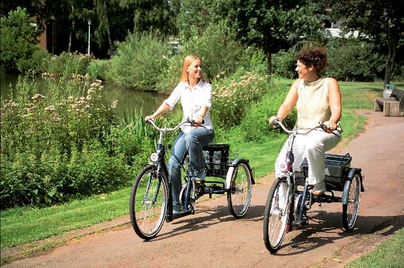Dreirad fahren bei Gleichgewichtsstörungen