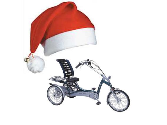 Dreirad für Erwachsene Weihnachtsgruss
