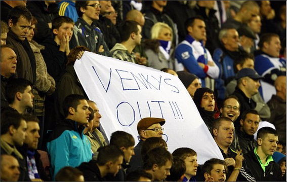 Blackburn Rovers; Blackburn Rovers fans; Ewood Park; Venkys