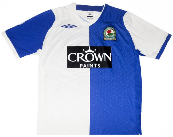 Worn when Rovers battled to avoid relegation under Sam Allardyce following the sacking of Paul Ince, eventually finishing 15th thanks to the efforts of key players such as Dunn, McCarthy, Pedersen, Santa Cruz and Nelsen.