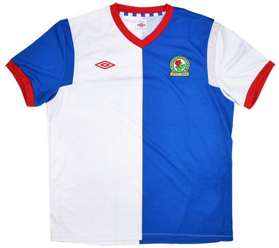 Home shirt as worn by the side as they were relegated to the Championship after losing 8 out of their last 9 matches.