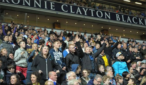 Blackburn Rovers; The Ronnie Clayton Blackburn End; Ronnie Clayton; Blackburn Rovers fans
