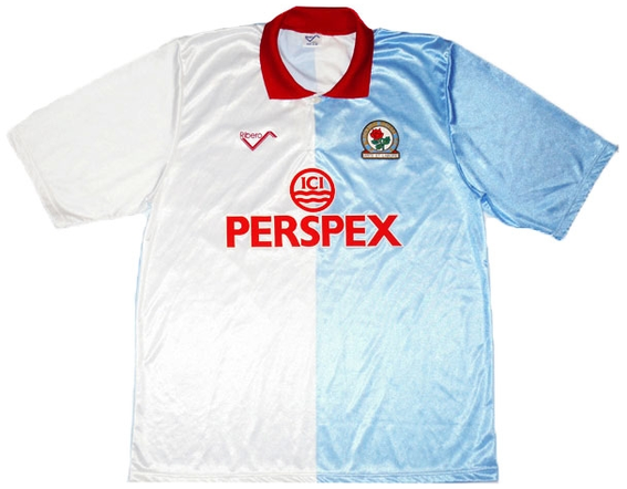 Worn when the side battled to a 19th place finish in the Second Division in Jack Walker's first season as chairman.
