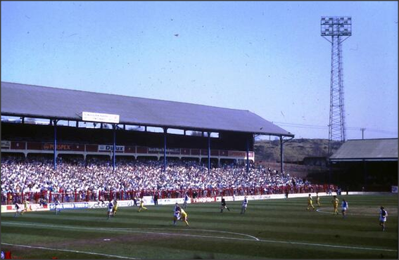 1986: The Riverside. Rovers v Derby County.
