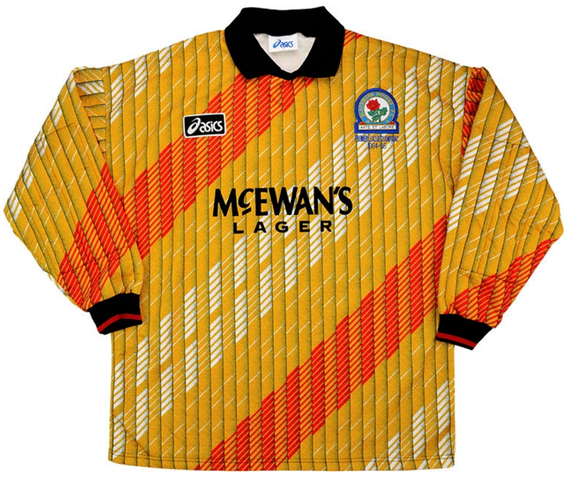 Worn by Rovers greats Tim Flowers and Bobby Mimms in the title winning season.