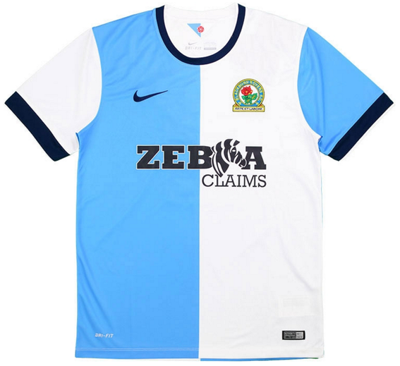 Home shirt as worn in the side's first season back in the Championship when they finished a disappointing 17th, but did upset Arsenal to reach the Quarter Finals of the FA Cup.