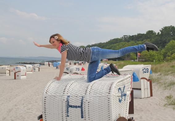 Steffi in Hohwacht, Ostsee, August 2013: