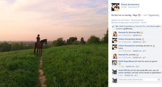 Eintrag auf Facebook von Chiara, 07.05.2014.