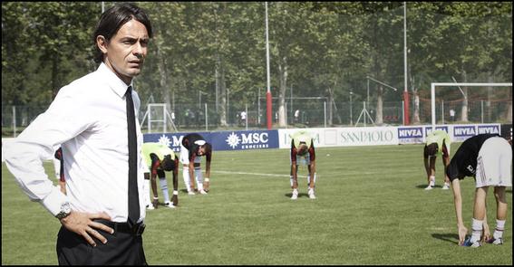 Filippo Inzaghi a d'abord entraîné les U16 de l'AC Milan (2012) avant de prendre les commandes de la Primavera