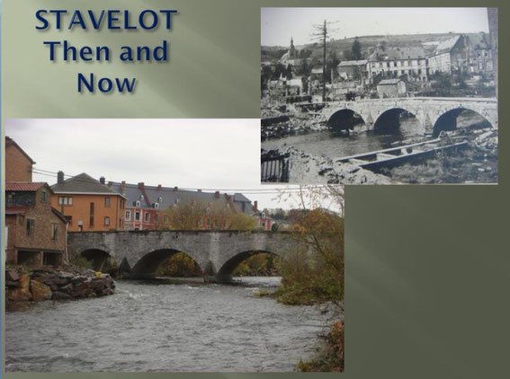 Stavelot Bridge Then and Now
