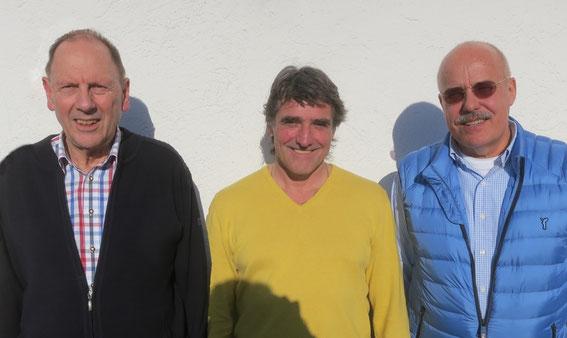 v.l. Albert Vosseler,  Hans-Dieter Müller und Detlev Münnich