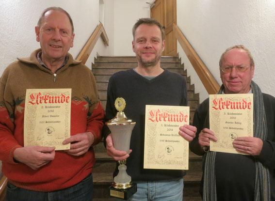 v.l. Albert Vosseler, Sebastian Kleffner, Günther Aehlig