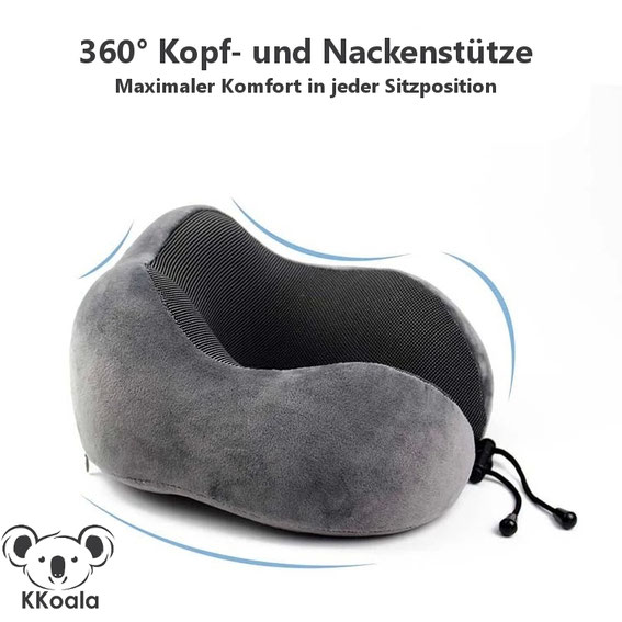 Funktionales und wissenschaftlich getestetes Design mit 360° Kopf- und Nackenstütze.