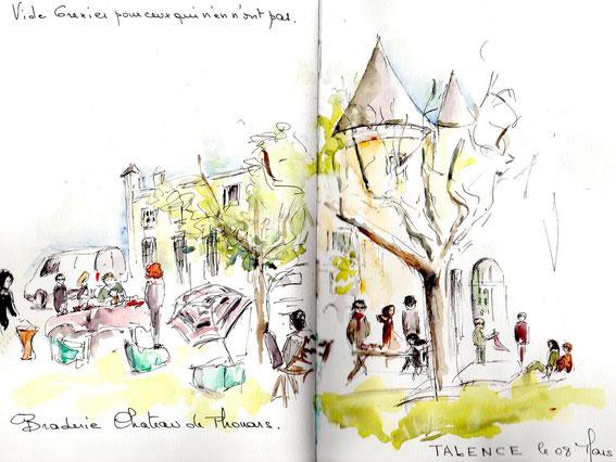 Vide grenier au Chateau de Thouars