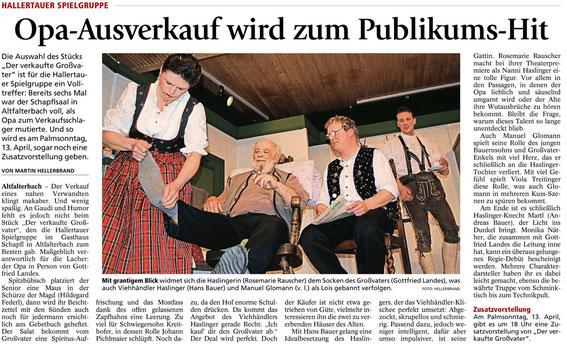 Quelle: Freisinger Tagblatt 08.04.2014