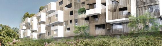 2014 - 358 logements à Marseille (13) - associé à D. Deluy architecte - MO: Bouygues immobilier - Surface: 21 200m² SDP + aménagements extérieurs - Budget: 24,5 M€ HT
