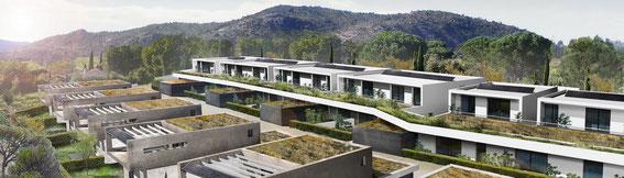 2013 - 24 logements au Plan de la Tour (83) - associé à D. Deluy & P. Duffau architectes -  MO: VAR HABITAT - SHAB: 1 606m² - Budget: 2,32 M€ HT