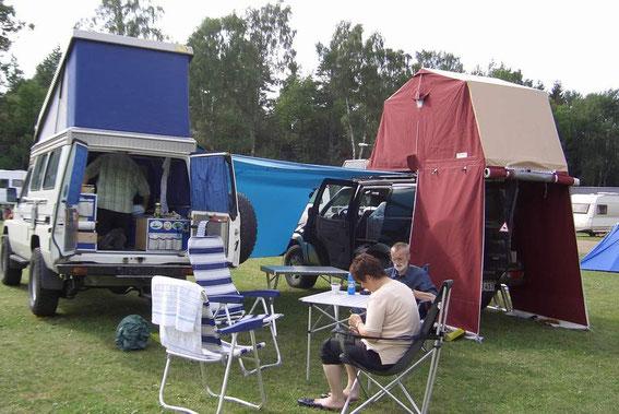 Unser Campingplatz auf der Pferderennbahn