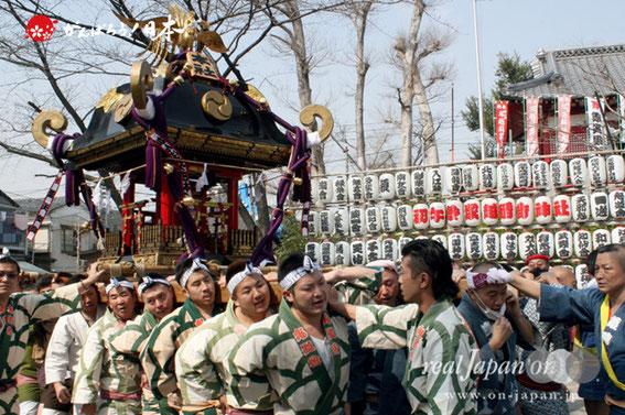 塚越稲荷神社「初午祭」本社神輿渡御 @2013.03.10