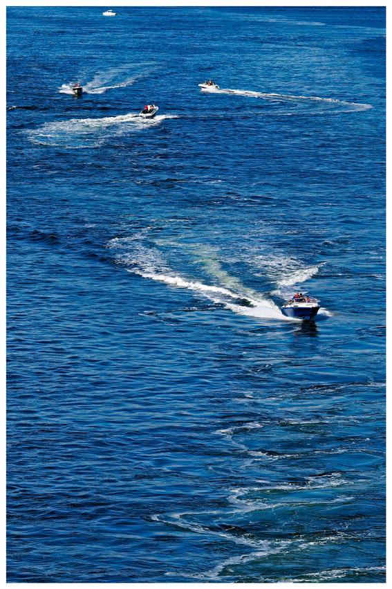 Motorboote im Oslofjord