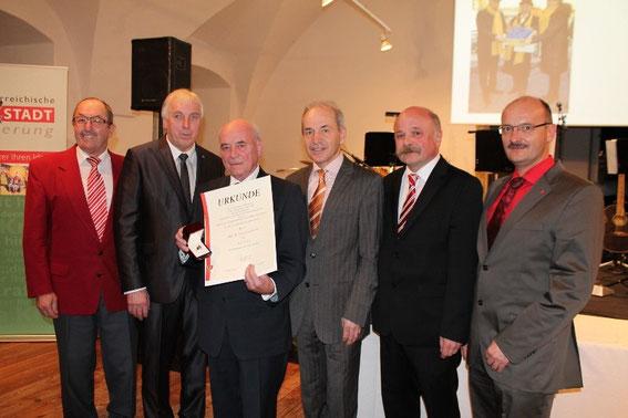 Manfred Schweighofer, Bgm. Johann Wohlmut, Friedrich Ucic, Hans Bliem, Josef Fischer