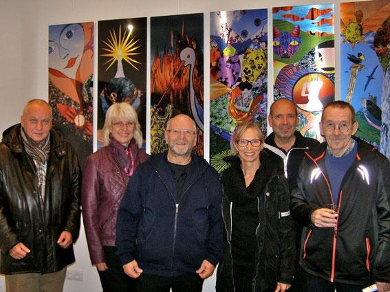 Manfred Hrubant, Beate Raabe-Schasching, Fritz Weinauer, Christine Felkel, Geri Berger und Erwin Ginner