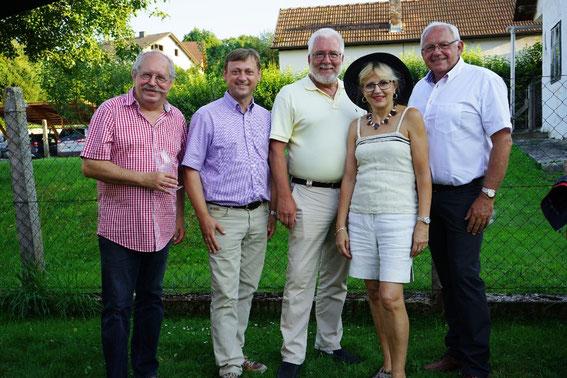 Karl J. Mayerhofer, NR. Johann Höfinger, Bgm. Paul Horsak, Mag. Silvia Schweighofer