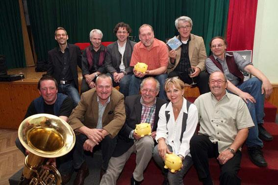 Die Musiker New Ohr Linz mit Alfred Hackl, Manfred Schweighofer, Mag. Silvia Schweighofer und Karl J. Mayerhofer