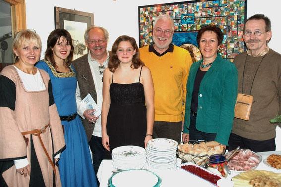 Silvia & Astrid Schweighofer, Karl & Sophie Mayerhofer, Bgm. Paul Horsak, GGR.Elfi Schneider Schwab, Erwin Ginner